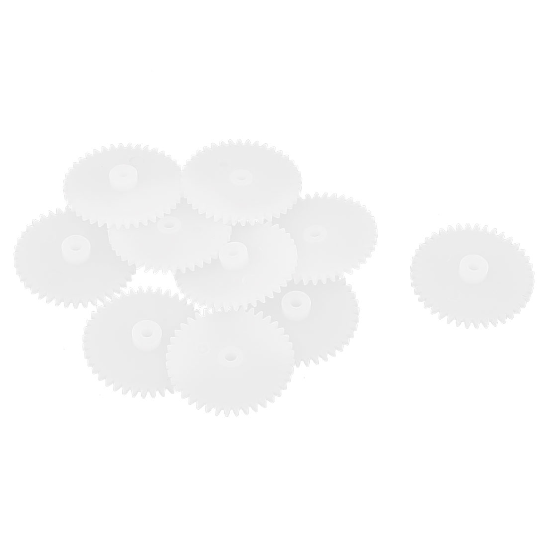 10Pcs 40 Teeth 0.5 Modulus Plastic Single Reduction Motor Gear for RC Airplane by