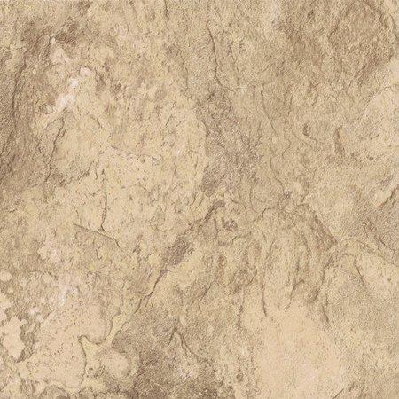 Gold Flooring Type (Congoleum DuraCeramic Sierra Slate 15.63'' x 15.63'' Vinyl Tile in Golden Greige )