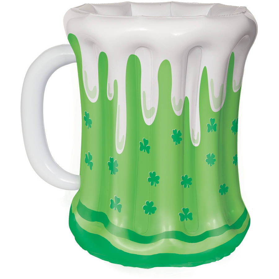 "18"" St. Patrick's Day Beer Mug Inflatable Cooler"