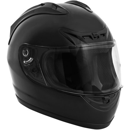 Full Face Helmet Race (Fuel Helmets, Full-Face Helmet, Matte Black, Sizes S to XL)