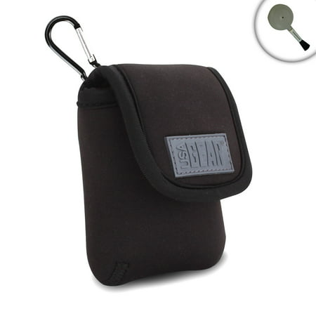 Sansa E200r Series - MP3 Player Carrying Case for SanDisk Clip Sport , SanDisk Sansa Clip+ , SanDisk Clip Jam , Kubik Evo , Apple iPod nano , Sony Walkman NW-E395 by USA GEAR with Carabiner Clip , Belt Loop