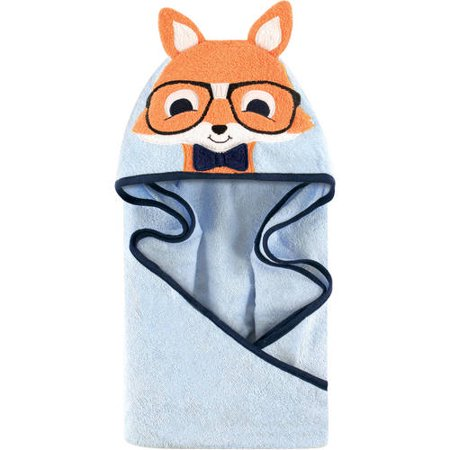 Hudson Baby Woven Terry Animal Hooded Towel, Nerdy Fox