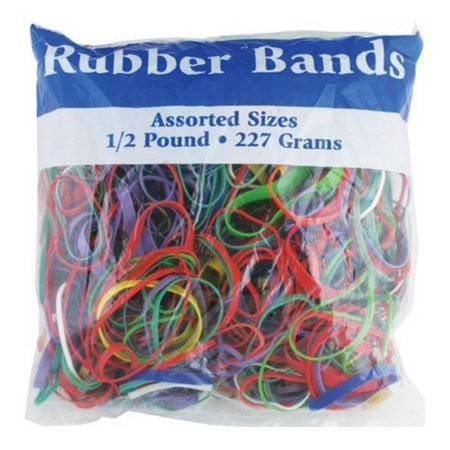 Assorted Rubber Bands (BAZIC Assorted Size and Color Rubber Bands - 227 grams)