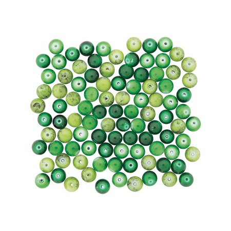 Fun Express - Multi Green Beads Glass for St. Patrick's Day - Craft Supplies - Adult Beading - Glass Beads - St. Patrick's Day - 300 Pieces](St Patrick's Day Beads)