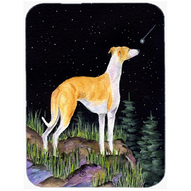 Carolines Treasures SS8492LCB 12 x 15 in. Starry Night Whippet Glass Cutting Board, Large - image 1 de 1