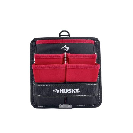 Husky 7 in 5-Pocket Pouch Tool Storage Holder Tote Electrician Utility Bag Belt