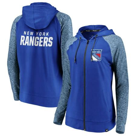 the latest 43c33 f7c00 New York Rangers Fanatics Branded Women's Made 2 Move Raglan Full-Zip  Hoodie - Blue/Heathered Blue