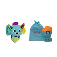 Yummy Buddy and Yummy Mitt Teething Mitten Bundle- BLUE (1 of each included)