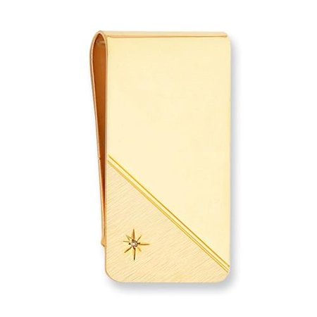 Diamond Monkey (Gold-plated Star Cut .001ct. Diamond Engravable Money Clip)