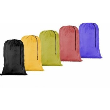 Drawstring Closure Nylon Bag (Large 30 X 40 Inch Heavy Duty Nylon Laundry Bag with Drawstring Slip Lock Closure, Assorted Colors and)