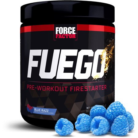 Force Factor Fuego Pre Workout, Blue Raspberry, 20