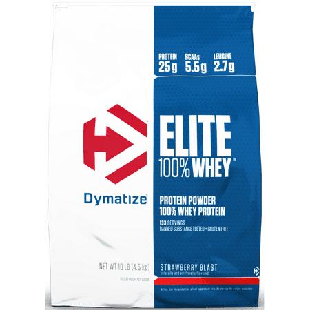Dymatize Elite 100% Whey Protein Powder, Strawberry Blast, 25g Protein/Serving, 10