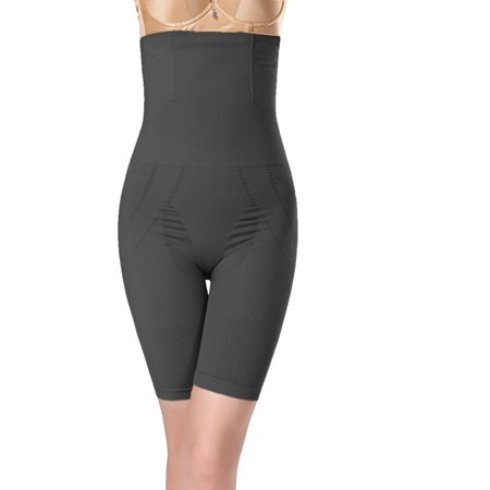Women's High Waist Tummy and Thigh Control Shapewear - Black, 3X Large