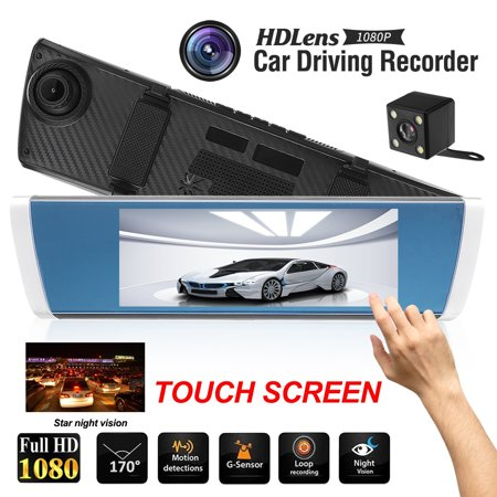 7 inch 1080P Car SUV DVR Dual Lens 2.5D Mirror Touch Screen G-Sensor Dash Camcorder - image 6 of 10