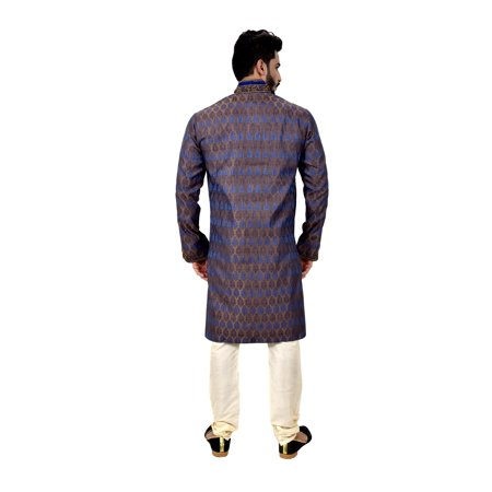 Indian Traditional Brocade Silk Multicolour Kurta Pajama for Men. This product is custom made to order. - image 4 de 6