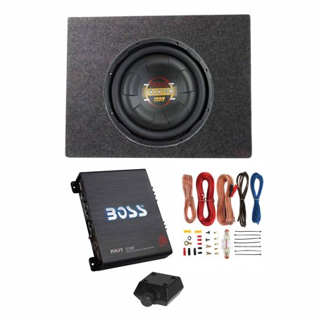 Boss Audio 12 Inch 1000W Subwoofer + Shallow Enclosure + Amplifier & Wire