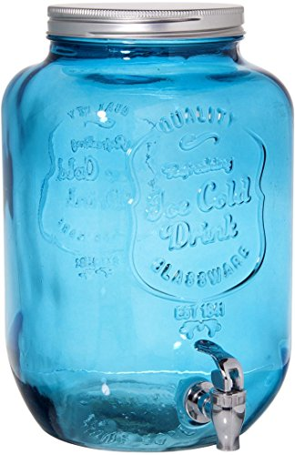 Palais Glassware Mason Jar Beverage Dispenser Traditional Tin Screw Off Lid 2 Gallon... by Palais Glassware