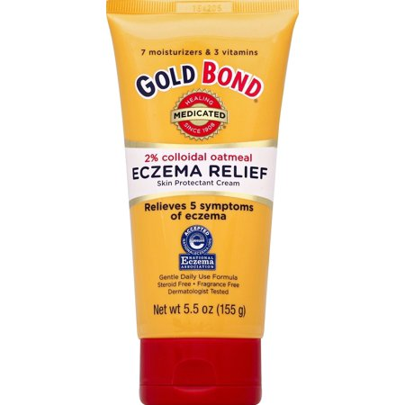 Gold Bond Medicated Eczema Relief Cream, 5.5oz (Best Treatment For Eczema On Legs)