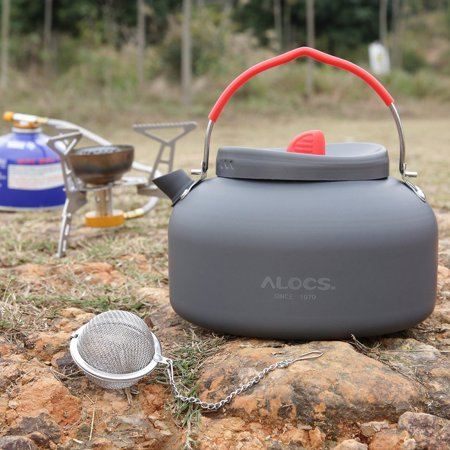Alocs Aluminum CW-K03 Outdoor Kettle Camping Picnic Water Teapot Coffee Pot Set