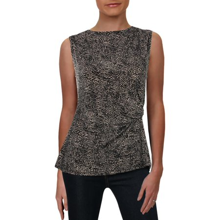 Anne Klein Womens Pebble Dot Suit Separate Tank Top