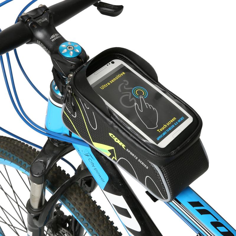 CBR  Bicycle Cycling Bike Frame Handlebar Bag Pannier Saddle Tube For Touchscreen Bike Phone Holder Bag Case Waterproof