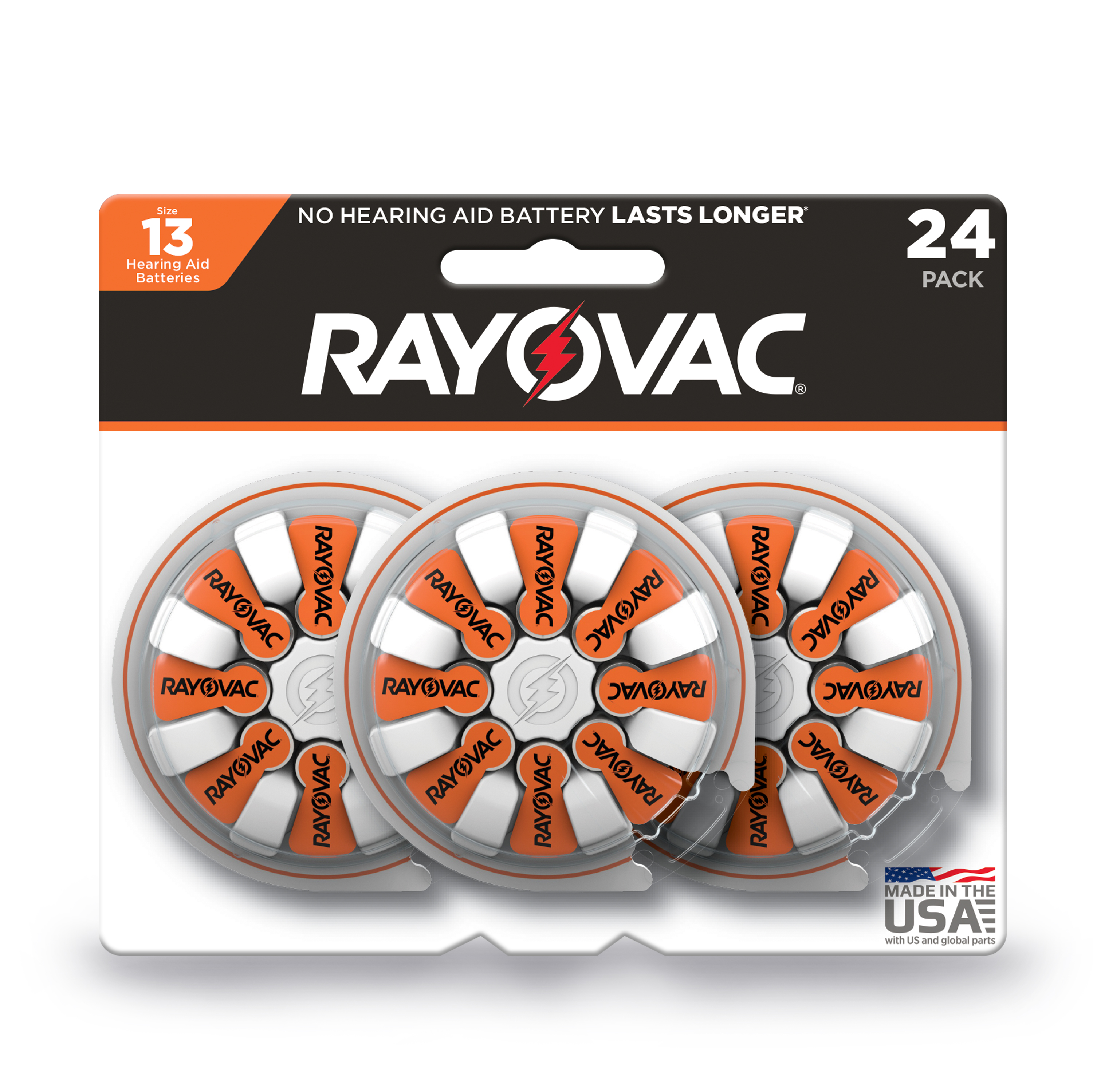 Rayovac Size 13 Hearing Aid Batteries, 24-Pack 13-24