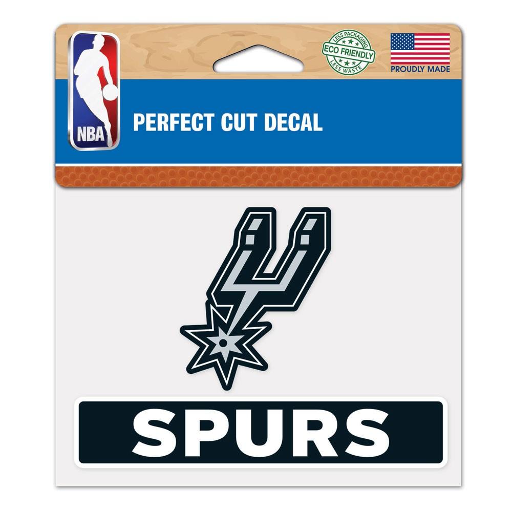 San Antonio Spurs Official NBA 4 inch  x 5 inch  Die Cut Car Decal by WinCraft