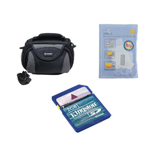 Kodak PlaySport Zx5 Camcorder Accessory Kit includes: ZELCKSG Care & Cleaning, SDC-26 Case, KSD2GB Memory Card