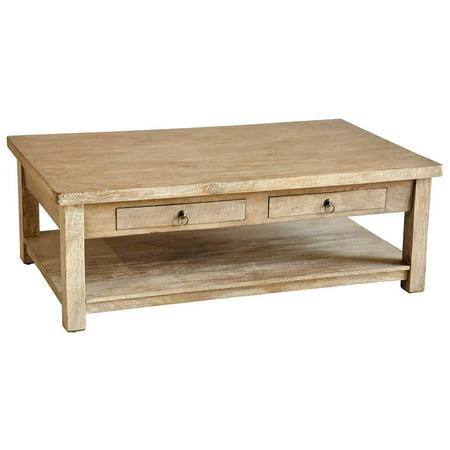 Rustic Coffee Table in Gray Wash Finish - Walmart.com