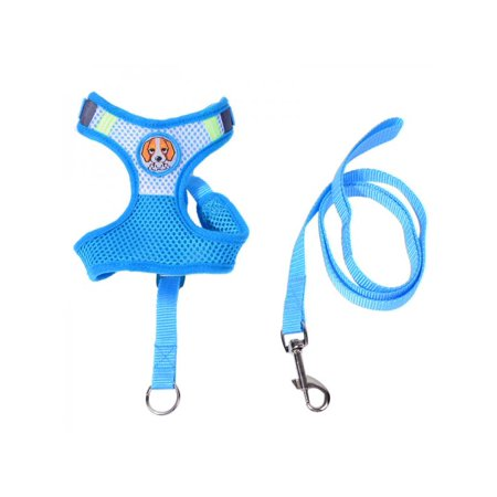 Lavaport Small Pets Dog Cat Soft Lead Mesh Harness Puppy Halter Vest Leash (Puppia Diamond Vest Harness)
