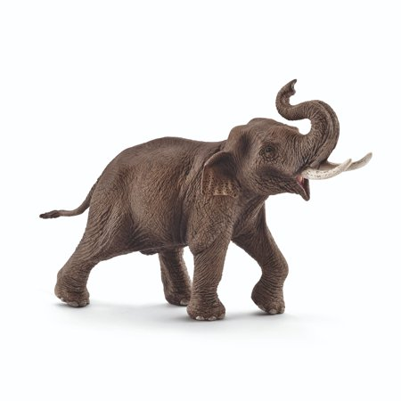 Schleich Wild Life, Asian Elephant, Male Toy Figure - Asian Toys