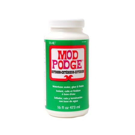 Mod podge outdoor glue sealer and finish for decoupage for Waterproof acrylic sealer for crafts