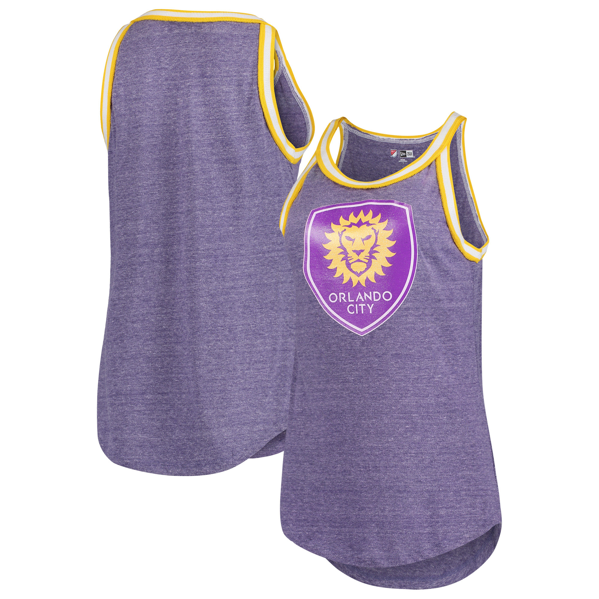 Orlando City SC 5th & Ocean by New Era Tri-Blend Jersey Tank Top - Purple