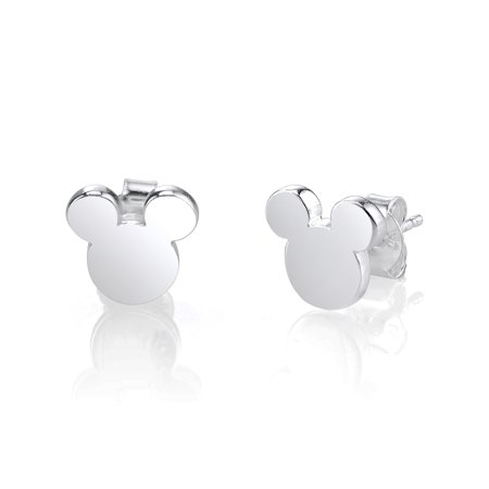 - Disney Sterling Silver Mickey Mouse Silhouette Post Stud Earrings