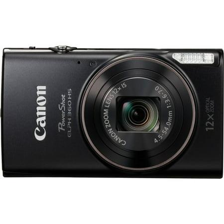 - Canon PowerShot ELPH 360 HS Digital Camera (Black)