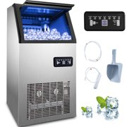 VEVOR Commercial Ice Maker 90lbs/24h with 26lbs Storage 3x8 Cubes Commercial Ice Machine 110V