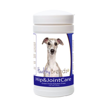 Healthy Breeds Dog Hip and Joint Care Supplement Soft Chews for Whippet, Bacon Flavor, Gluten & Grain Free, Glucosamine Chondroitin Organic Turmeric Support 120 Count (Chondroitin Ds)