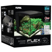 Fluval 9-Gallon FLEX Aquarium Kit, Black