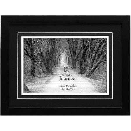 personalized joy is in the journey wedding framed print 14x18