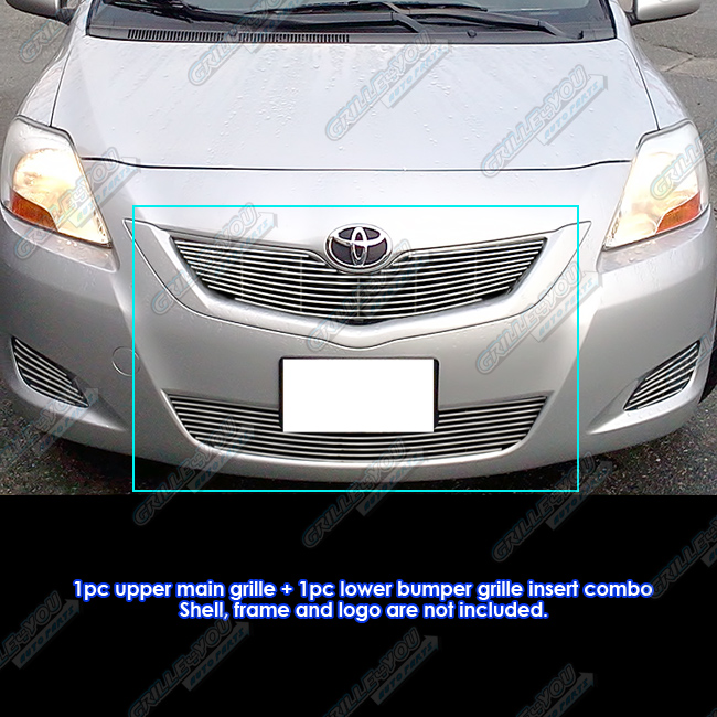 APS Compatible with 2003-2008 Toyota Matrix Billet Grille Combo N19-A73978T