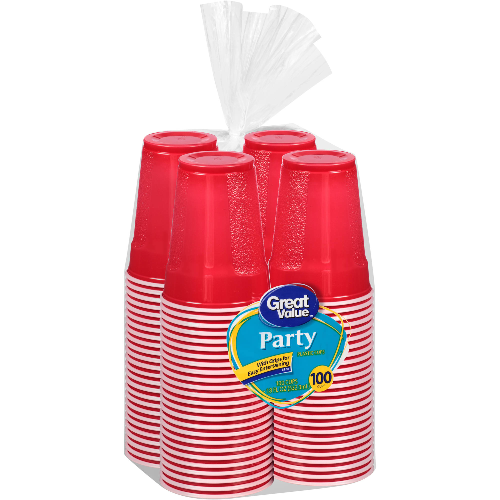 Great Value Party 18 Oz Cups, 100ct