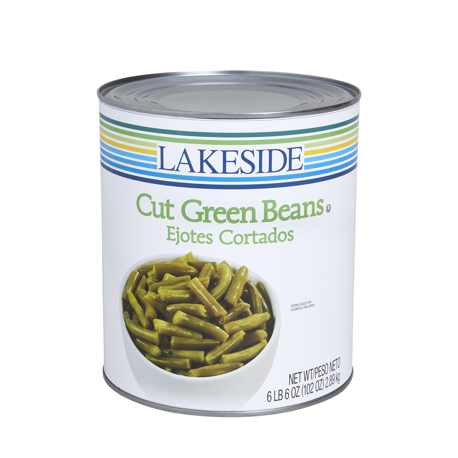 Lakeside Foods Cut Green Beans, 102 oz can