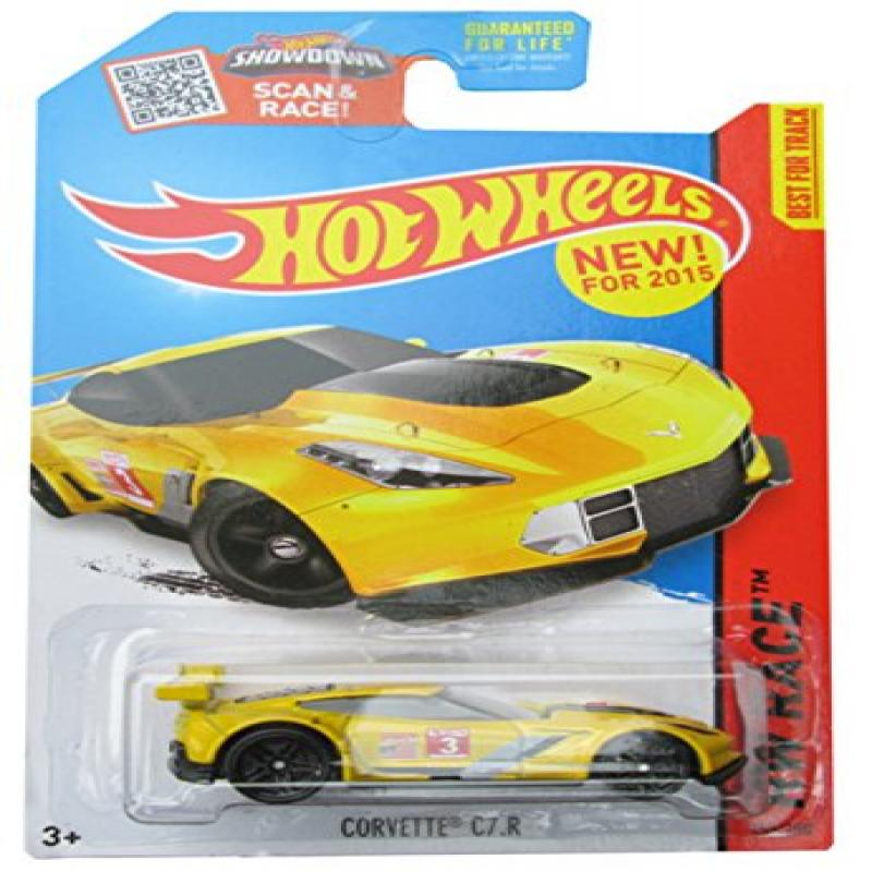 Hot Wheels, 2015 HW Race, Corvette C7.R [Yellow] 155/250