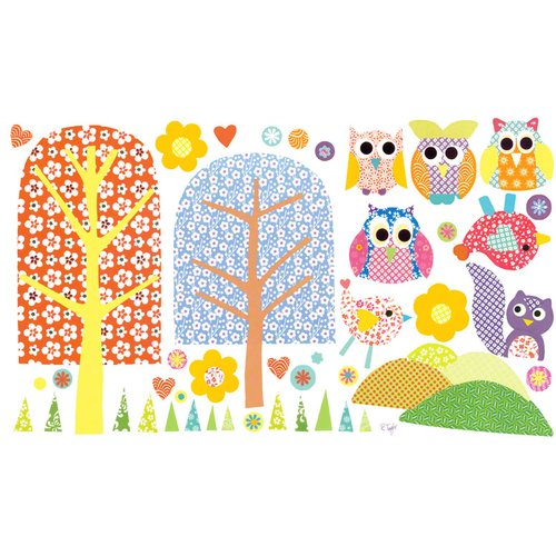Oopsy Daisy Patterned Park Medium Peel and Place Wall Decal Set