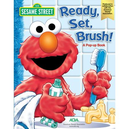 Sesame Street Ready, Set, Brush! a Pop-Up Book (Board Book) - Sesame Street Set