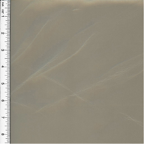 Metallic Pleather Silver Beige Home Decorating Fabric, Fabric By the Yard