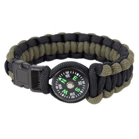 Paracord Compass Bracelet - Olive Drab / Black, 7 Inches](Making A Paracord Bracelet)