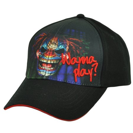 Clown Hats For Sale (Wanna Play Scary Killer Creepy Clown Sublimated Graphics Hat Cap)
