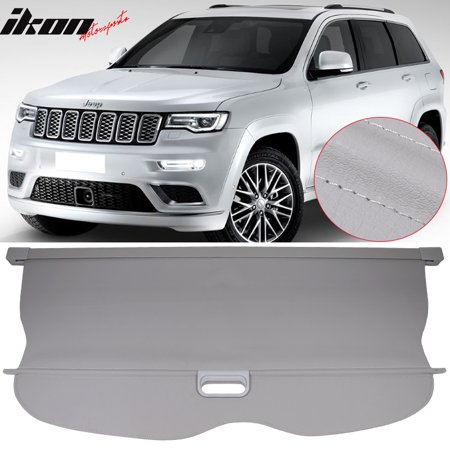 Fits 11-17 Grand Cherokee Grey PU Leather Tonneau Cover Cargo Cover Retractable