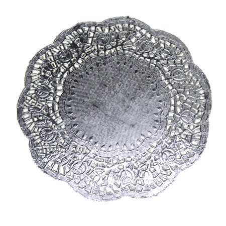 Round Lace Silver Doilies, 8-1/2-Inch, 6-Piece](Round Red Paper Doilies)